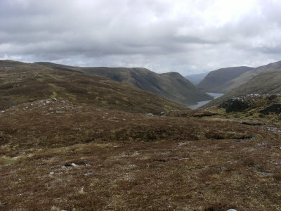 Looking back to Loch an Daimh