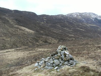 The cairn at the junction of the paths