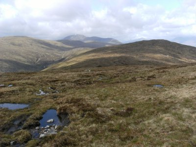 On the high moor looking west to Beinn a Chreachain (above Bridge of Orchy)