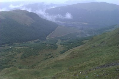 Looking down to Loch Voil (Balquhidder behind that hill on the left)