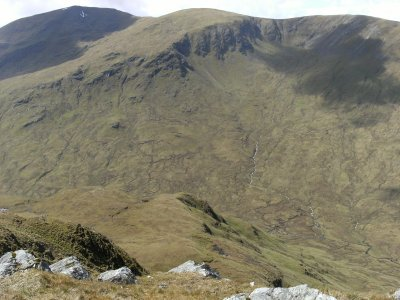 Looking across to Coire Dubh Mor with Beinn a Chreachain in the background